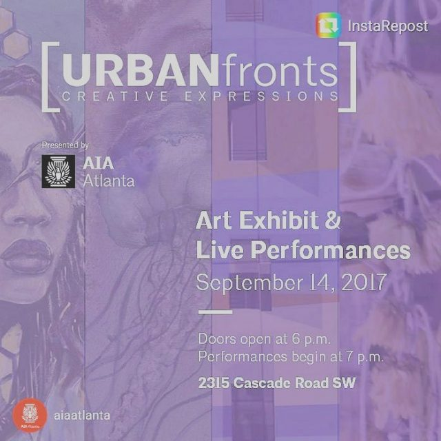 Were hanging with aiaatlanta for tonights Urban Fronts Creative Expressionshellip